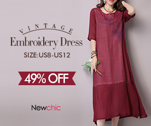 Vintage Women Half Sleeve O Neck Dress SKU409019