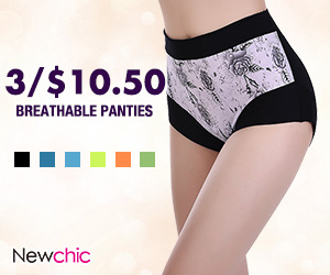 High Elastic Breathable Floral High Waist Underwear SKU458040