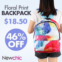 Canvas Floral laptop backpack
