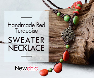 Red Sweater pearl Necklace