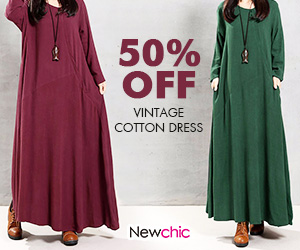 Baggy Long Sleeve vintage dresses