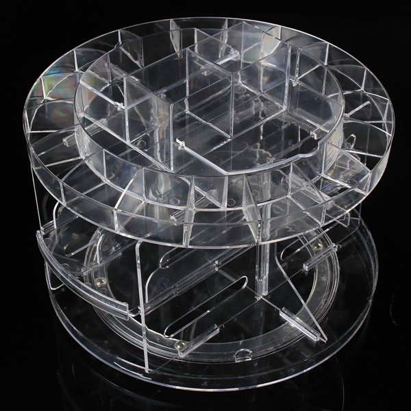 360° Rotating Acrylic Make Up Organizer Cosmetic Storage Holder Container