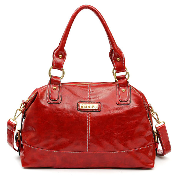 Women Elegant Black Red Casual Handbags Leisure Zipper Shopping Crossbody Bags Shoulder Bags