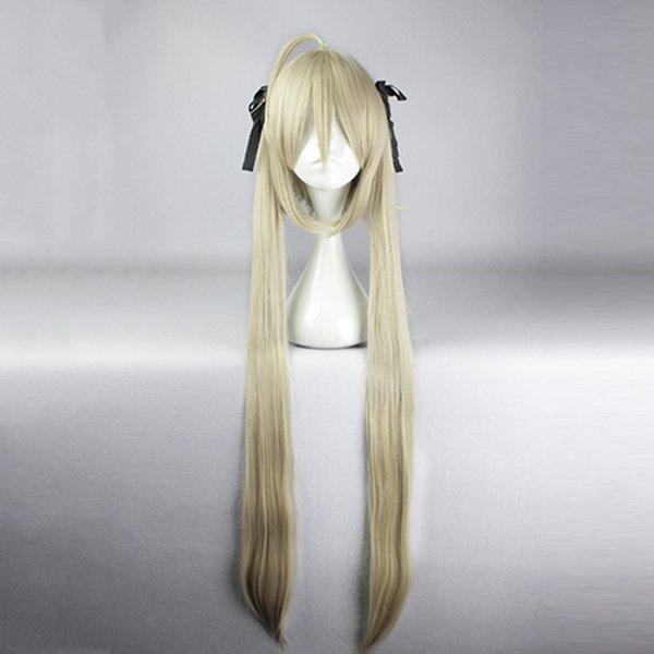 Длинные прямые косплей парик синтетического волокна высокотемпературной Аниме костюм партии волос