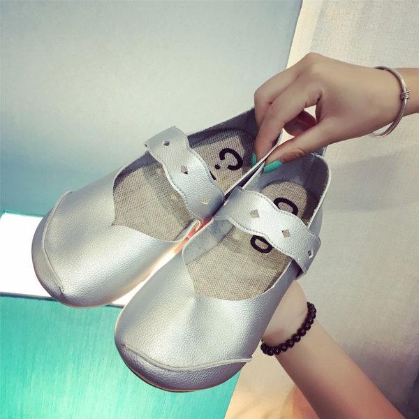 Повседневный мягкой подошвой Comfy лыской Мокасины Красочные скольжения на плоской обуви