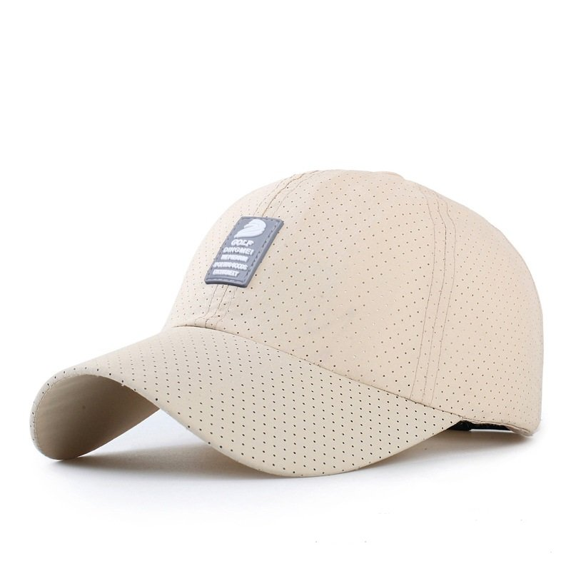 Men Women Polyester Quick Dry Hole Baseball Cap Breathable Adjustable Outdoor Sport Hats