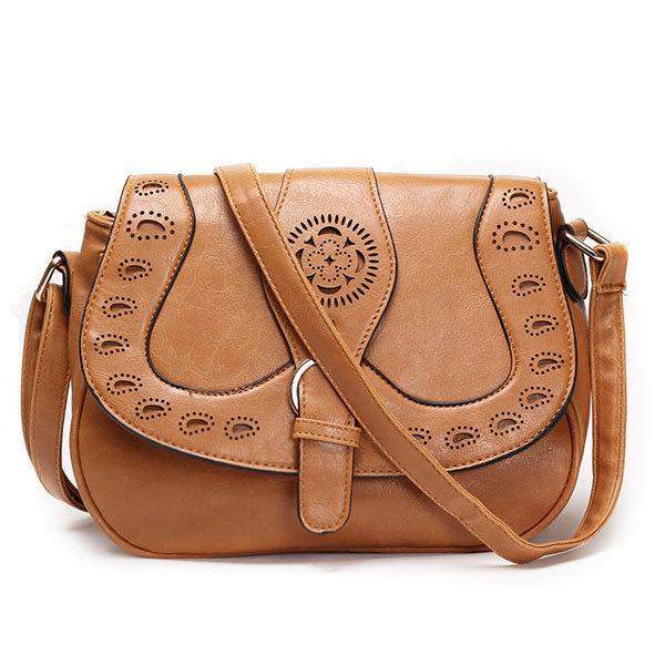 Women Vintage Hollow Out Crossbody Bag Retro Casual Shoulder Bags