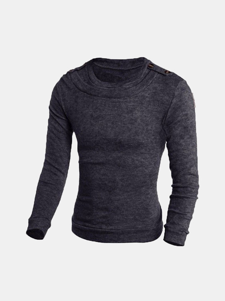 Men's Wool Blend Round Crew Neck Pullover Sweater Tide Knitted Sweaters