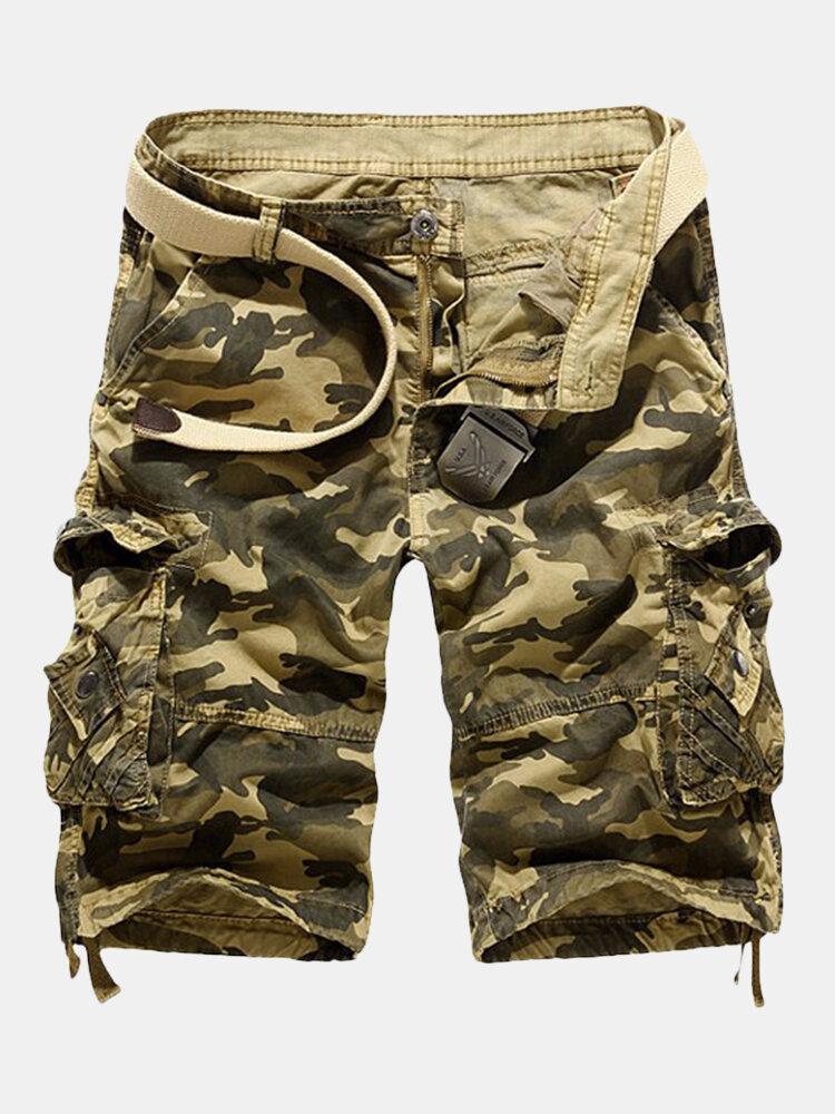 Мужская лето вскользь Сыпучие Fit Camo Multi-карманы Грузы короткие штаны
