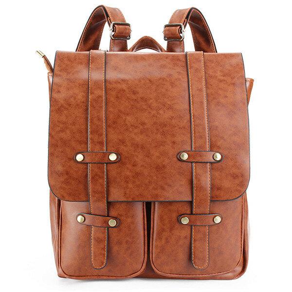 Женщины Rivet Рюкзак Vintage Школа путешествий плеча сумки