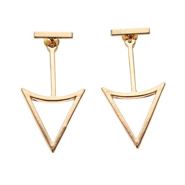 Геометрическая треугольник металл форма серьги