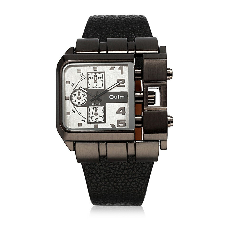 OULM Charming Watch Fashion Leather Alloy Men Watch
