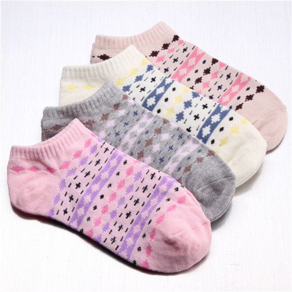 Women Girl Sports Casual Cute Ankle High Low Cut Cotton Socks