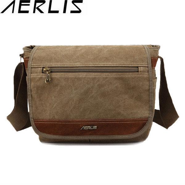 AERLIS Men Women Canvas Retro Multifunctional Outdoor Shoulder Crossbody Bag