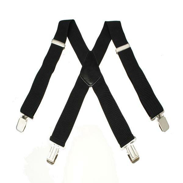 Men's  Elastic Suspenders Terylene 4 Clips Braces