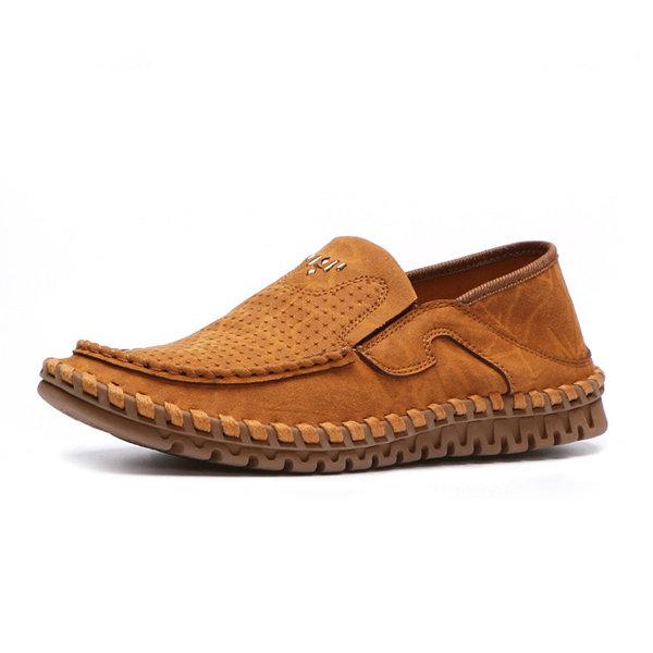 Мужчины мягкой подошве Повседневная обувь Старый ПЕКИН Уютные бездельники Простой лоферы