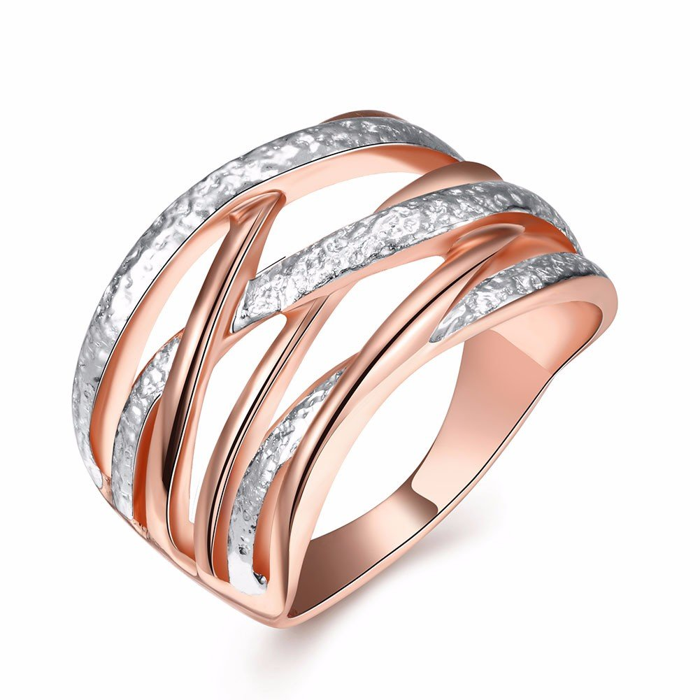 Simple Luxury Ring Rose Gold Platinum Alloy Ring