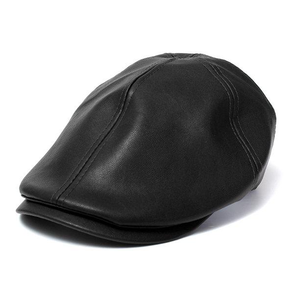 Мужчины Женщины Искусственная кожа Ivy джентльмен Cap Bonnet Newsboy Берет Cabbie Гэтсби Flat Golf Hat