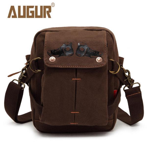 AUGUR Men Canvas Leisure Shoulder Bag Vintage Style Crossbody Waist Bag