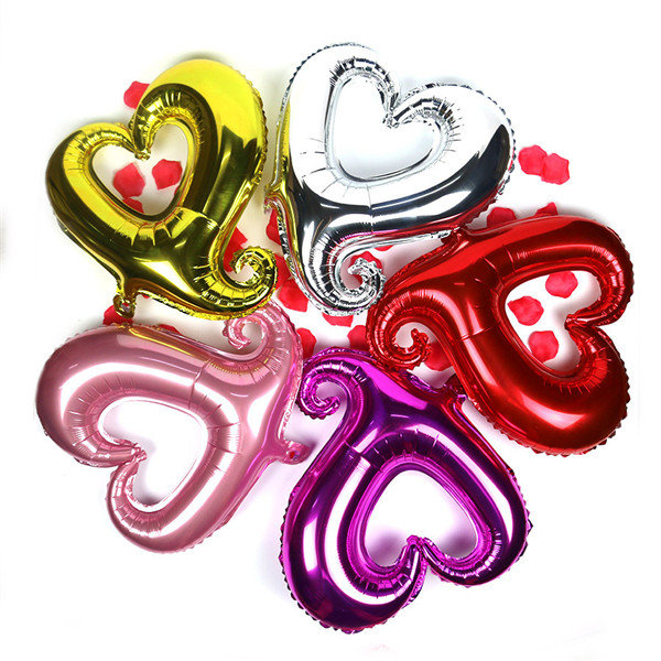 18'' Foil Heart Pattern Balloon Engagement Wedding Party Decoration