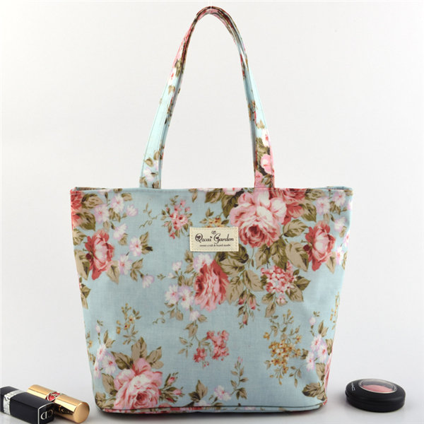 Casual Stylish Flower Pattern Tote Handbag Shoulder Bags For Women Shopping Bag