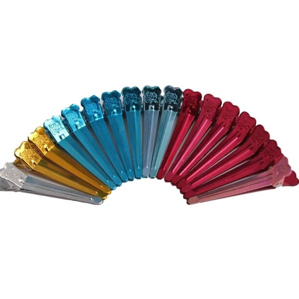 10 Pcs Professional Salon Barrettes Aluminum Polychrome Hair Clips