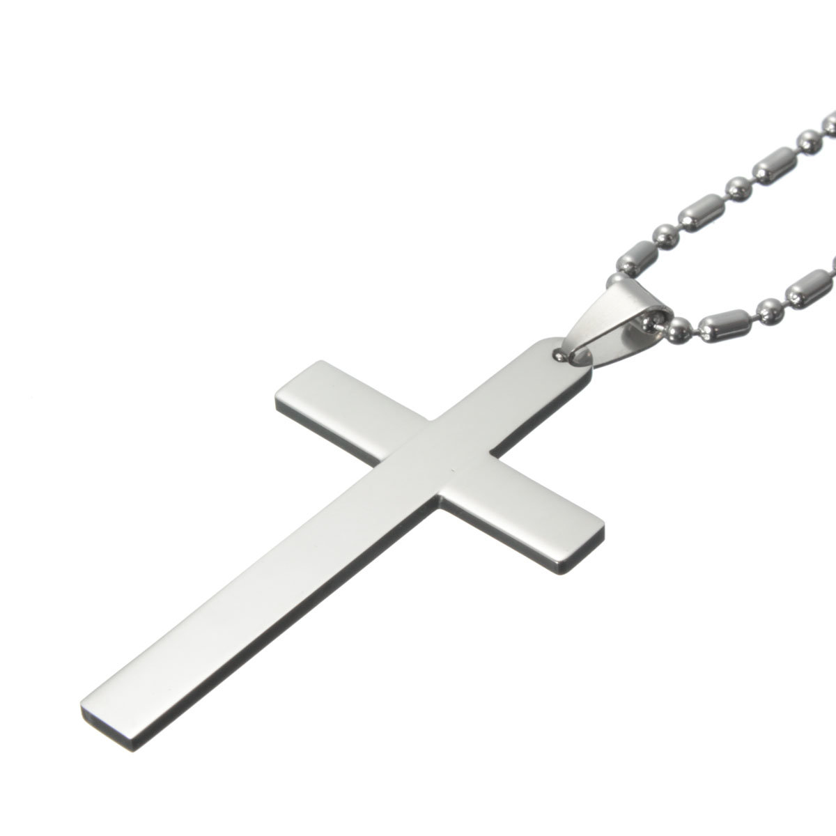 Vintage Stainless Steel Cross Pendant Necklace