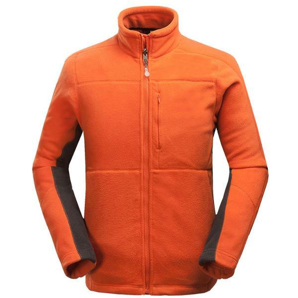 Открытый Толстый флис Теплая куртка Повседневный стенд воротник Спорт пальто для мужчин