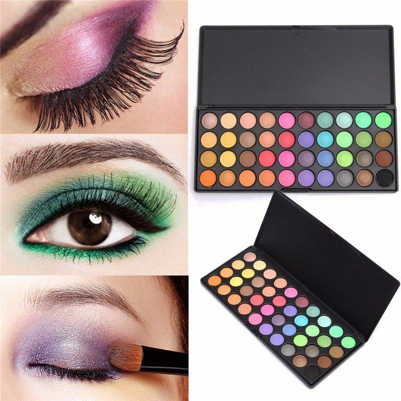 Профессиональный 40 цветов Матовый Shimmer Natural Eye Shadow Palette Косметический макияж