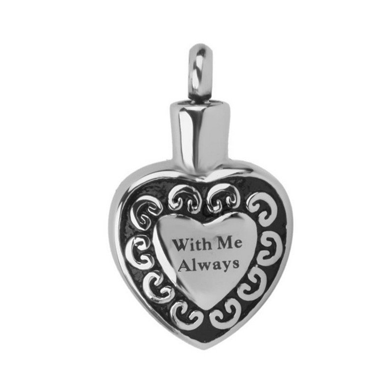 Stainless Steel Heart Cremation Keepsake Pendant