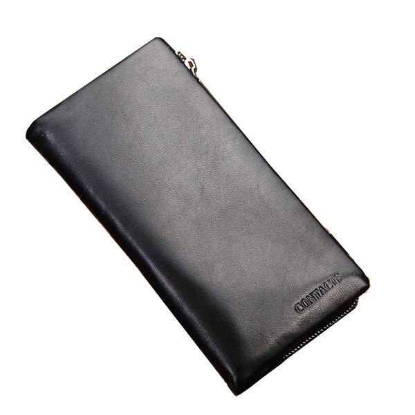 Man Genuine Leather Phone Bag Business Wallet Purse Passport Wallet