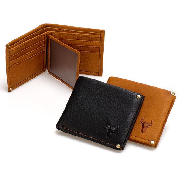 Genuine Leather Cowhide Retro Horizontal Wallet For Men