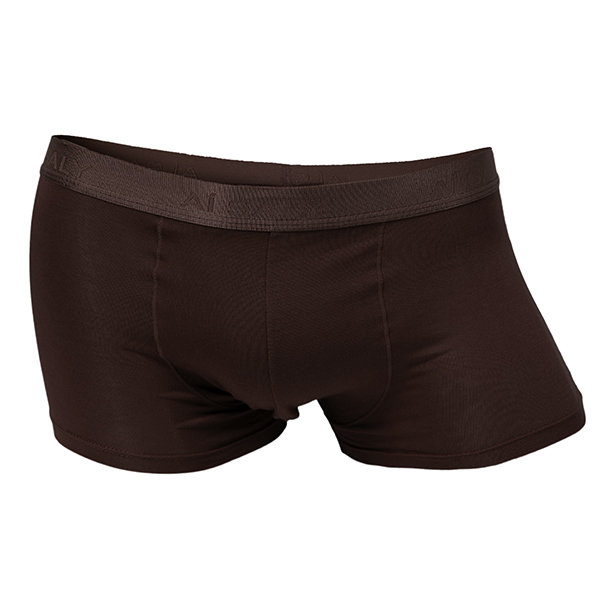 6 Colors Men's Modal Breathable Boxers Solid Straight Underwear Mid-Rised Underpants