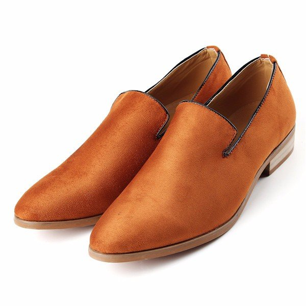 British Style Slip On Soft Suede Moccasins Boat Driving Flats Shoes For Men