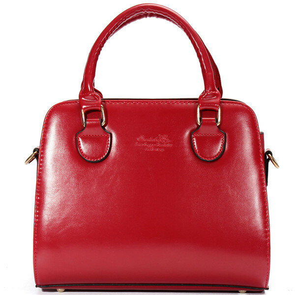 Fashion Women Leather Brief  Letter Print Handbag