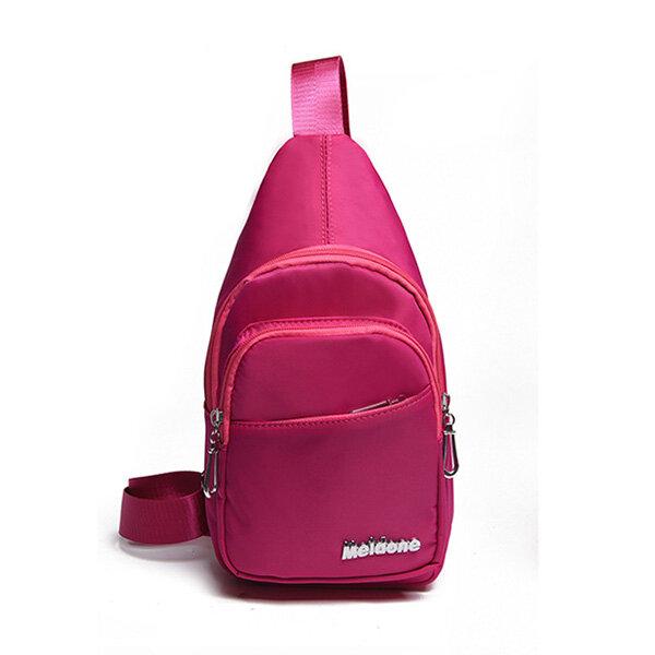 Nylon Waterproof Lightweight Shoulder Bag Chest Bags For Women For Men