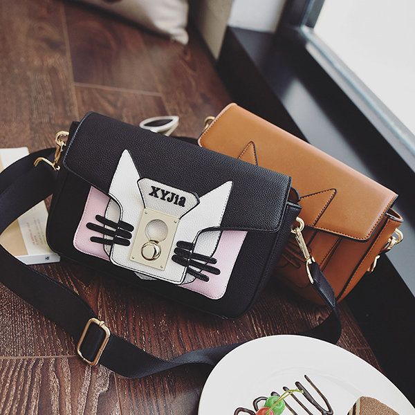Women Cat Pattern Creative Shoulder Bag Stylish Crossbody Bags