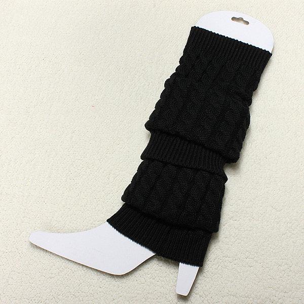 Women Knit Crochet Knee High Leg Socks Winter Warmers Legging