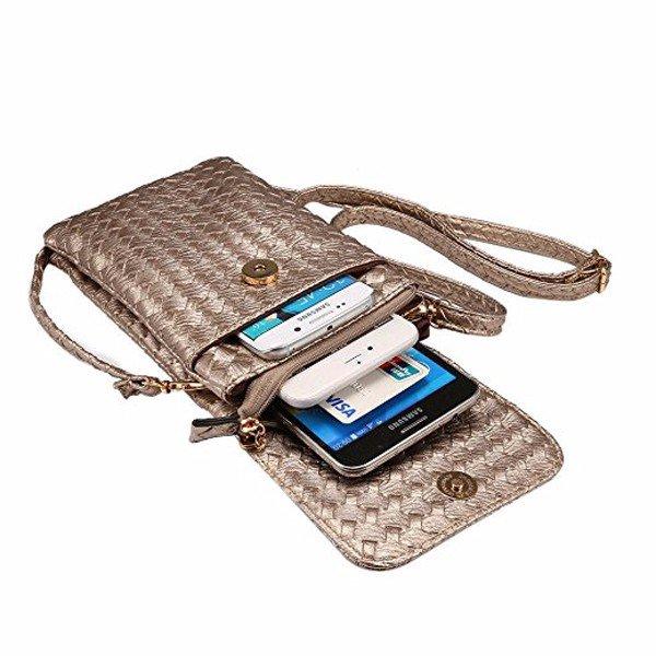 Универсальный 6 '' Многофункциональный кожаный мини Crossbody телефон сумка с плечевым ремнем для Iphone Самсун