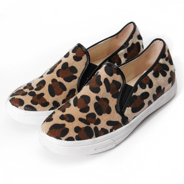 Leopard  Casual Slip On Flat Shoes