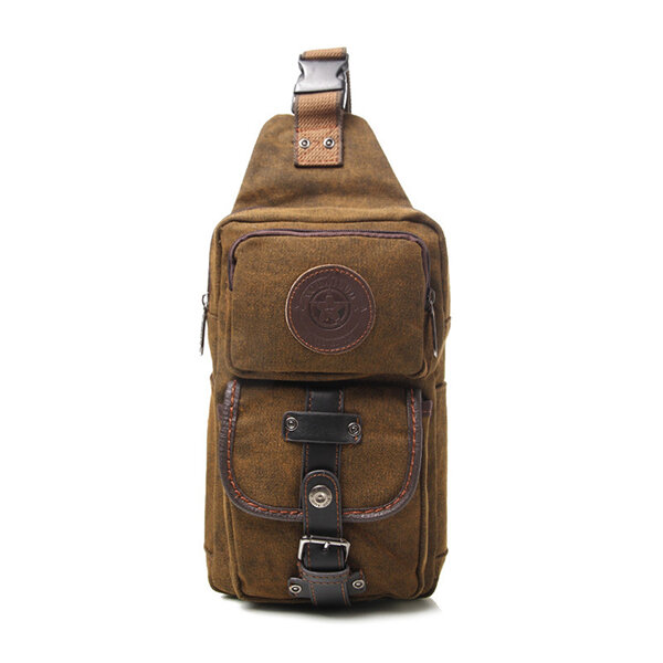 Men Retro Multifunctional Outdoor Travel Sports Shoulder Bag Crossbody Bag Chest Bag
