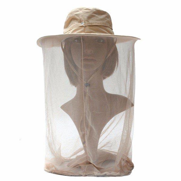 Мужчины Женщины Солнцезащитный отпугивания насекомых Защита Hat Mesh маска ковша