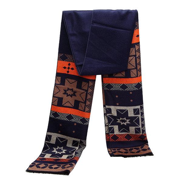 Мужчины режимное толстые теплые шарфы Длинные шейный платок Мягкие Fringe кисточкой Шаль обруча