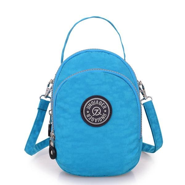 Women Nylon Waterproof Round Bags Casual Outdoor Totes Shoulder Bags Messenger Bags