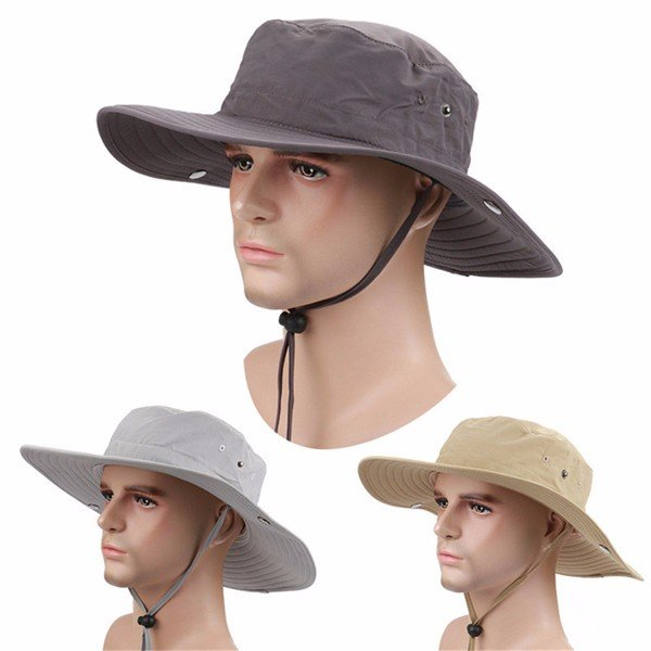 Men's Hunting Fishing Outdoor Military Wide Brim Caps Bucket Boonie Sun Hats