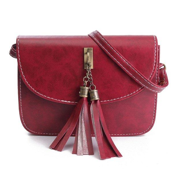 Women Elegant Shoulder Bag Tassel Casual Vintage Crossbody Bag