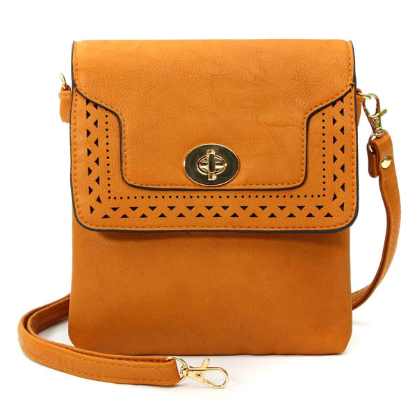 Women Retro Hollow PU Leather Metal Buckle Shoulder Bags Crossbody Bags Messenger