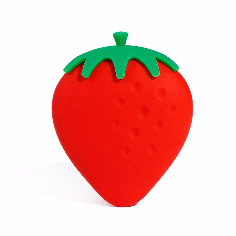 Creative Silicone Strawberry Scattered Wallet Keychain