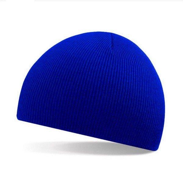 Pure Color Unisex Striola  Hat Wool Winter Thermal Ski Caps