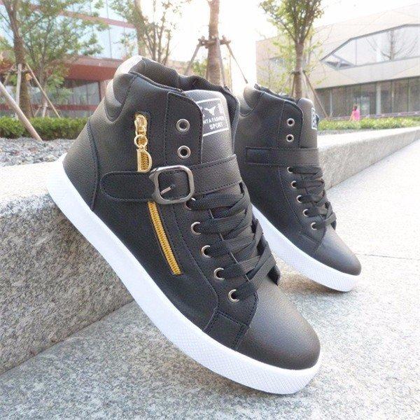 High Top Узелок Sport Zipper поясная пряжка украшения Мужская обувь